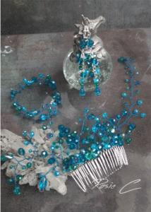 Бижута за коса Côte azur - комплект с украса за коса