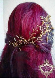 Голям гребен-аксесоар за коса в златно