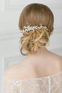 Перлен гребен-аксесоар за коса за булка