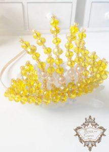 Тиара от жълти кристали Сваровски Queen of a Sun